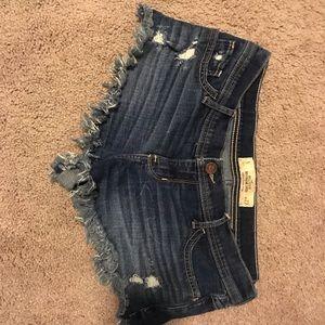 Hollister boyfriend jean shorts